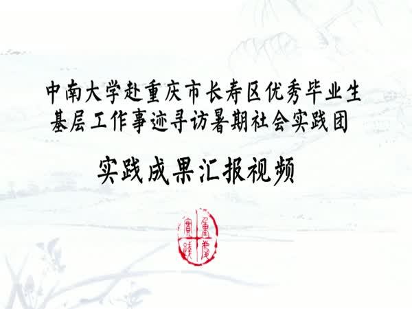 中南大学赴重庆市社会实践成果汇报视频